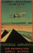 Imperial airways vintage poster 1926